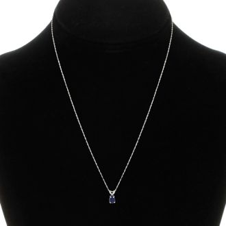 .60ct Pear Shaped Sapphire Pendant in 14k White Gold