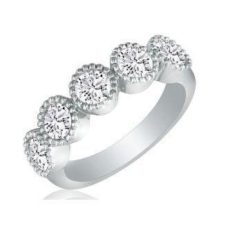 2ct Diamond Wedding Band Set in Platinum