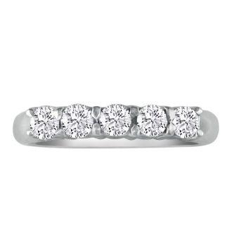 Perfect 1/4ct Platinum Diamond Wedding Band