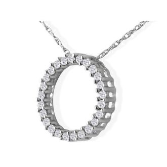 Sweet and Sparkly 1/10ct Circle Diamond Pendant in White Gold