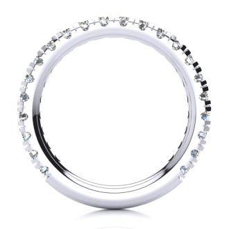 .90ct Round Diamond Wedding Band in 14k White Gold