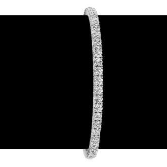 4 Carat Diamond Tennis Bracelet In 14 Karat White Gold, 7 Inches. Incredible Price. Very Popular Bracelet!