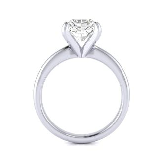 2ct Radiant Cut Diamond Solitaire Engagement Ring In 14K White Gold