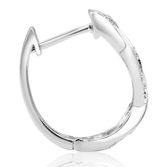 1/4ct Oval Shape Diamond Infinity Hoop Earrings. One Of Our Most Classic, Popular Style! Always Sells Out!