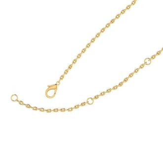 14K Yellow Gold Over Sterling Silver Large Disc Necklace With Free Custom Engraving, 18 Inches