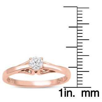 Diamond Solitaire Promise Ring In Rose Gold