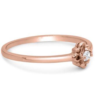 Vintage Diamond Promise Ring In Rose Gold