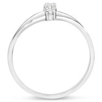 Three Diamond Spray Promise Ring In White Gold