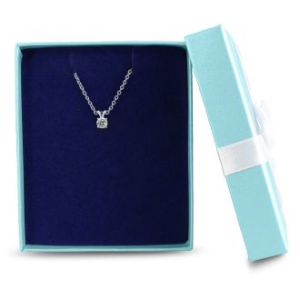 .22 Carat Genuine, Natural Earth-Mined Colorless Diamond Pendant in 14k with Free 18 Inch Chain
