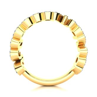 Personalized Diamond Name Ring In 14K Yellow Gold - 9 Letters, 0.60cttw