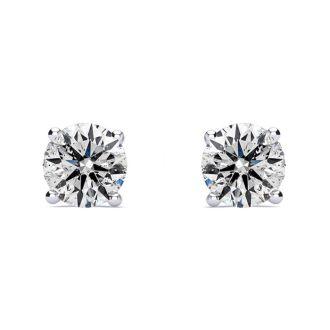 1.60 Carat Colorless Diamond Stud Earrings 14 Karat White Gold. Huge Diamond Earrings, Amazing Low Price!