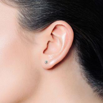 1.20 Carat Colorless Earth-Mined Diamond Martini Stud Earrings In 14 Karat White Gold
