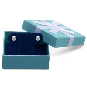 1.10 Carat Colorless Diamond Stud Earrings In 14 Karat White Gold. Very Rare Size, Amazing Price!