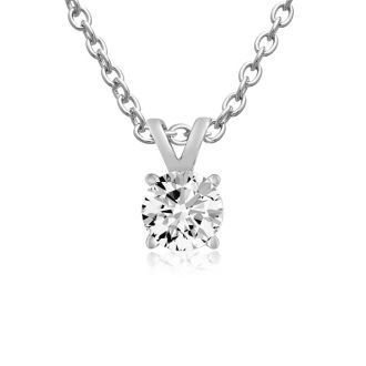 1/4 Carat Moissanite Solitaire Necklace, 18 Inches.  Incredible Deal. Lowest Price Anywhere!