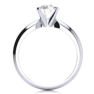 1 1/2 Carat Diamond Solitaire Engagement Ring In 14K White Gold. Bright And Fiery Diamond Deal!