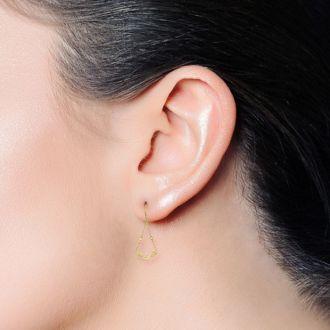 14 Karat Yellow Gold Twist Chandelier Dangle Earrings, 1 1/2 Inches
