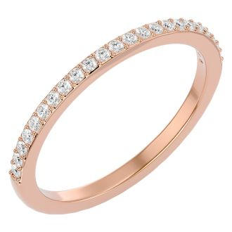 1/4 Carat Diamond Wedding Band In 14 Karat Rose Gold