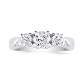 1/4ct Three Diamond Ring in 1.4 Karat Gold™. Lowest Priced 3-Diamond Ever!