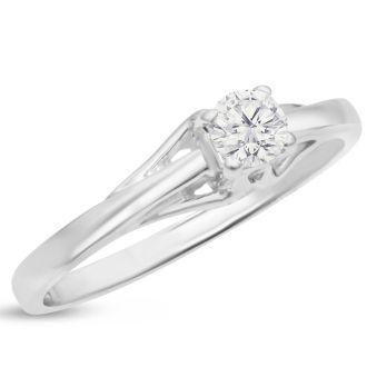 1/4 Carat Diamond Solitaire Engagement Ring In 1.4 Karat Gold™. Amazing Deal!