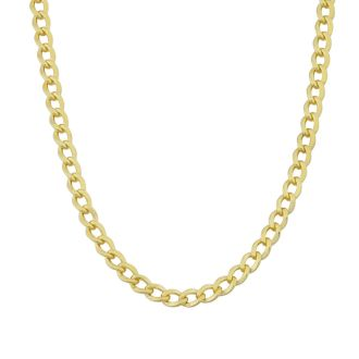3.3mm Curb Link Chain Necklace, 22 Inches, Yellow Gold