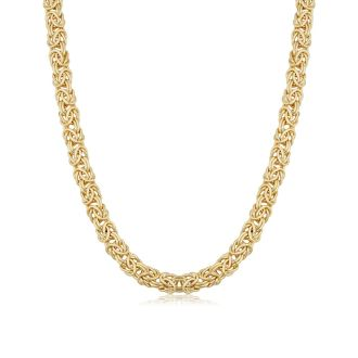 6mm Byzanite Chain Necklace, 20 Inches, Yellow Gold