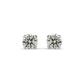 10 Point Colorless Diamond Stud Earrings White Gold!  Amazing Deal, Fiery Diamonds