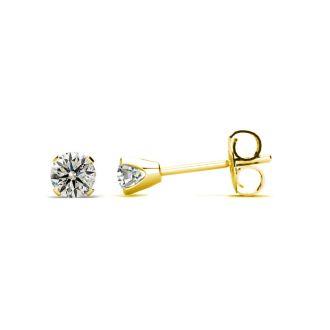 1/5 Carat Diamond Stud Earrings In 10 Karat Yellow Gold