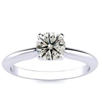 2/3 Carat Diamond Engagement Ring in 14K White Gold
