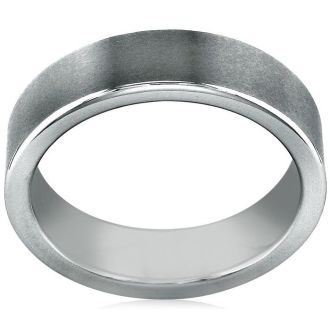 Classic 6mm Flat Brush Finished Comfort Fit Tungsten Band