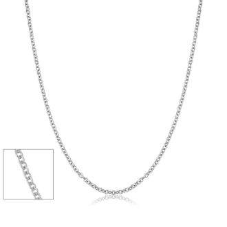 20 Inch 1MM Cable Chain In Platinum Overlay