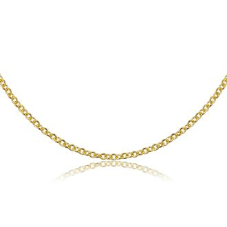 14 Karat Yellow Gold 1mm Cable Chain, 18 Inches