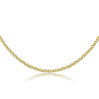 14 Karat Yellow Gold 1.5mm Cable Chain, 16 Inches