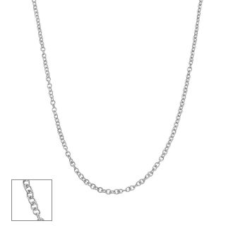 14 Karat White Gold 1.5mm Cable Chain, 16 Inches