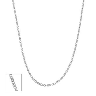 14 Karat White Gold 1.5mm Cable Chain, 18 Inches