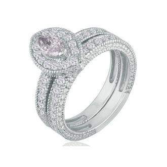 1 1/2 Carat Marquise Diamond Bridal Set in 14k White Gold