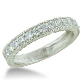 1 1/2 Carat Princess Shape Diamond Bridal Set in 14k White Gold