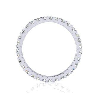 1 Carat Round Diamond Comfort Fit Eternity Ring In Platinum, Ring Size 4