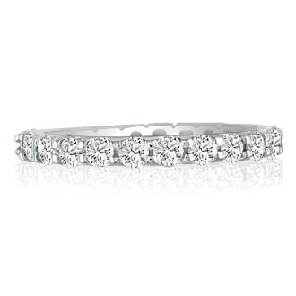 14 Karat White Gold 2 Carat Diamond Eternity Band, G-H SI3, Ring Sizes 4 to 9 1/2
