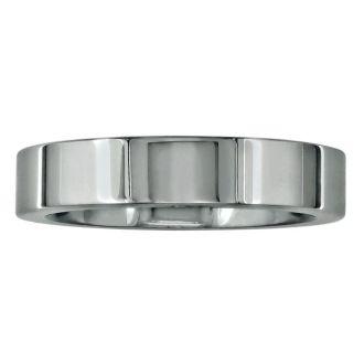 4mm Flat Comfort Fit Titanium Wedding Band