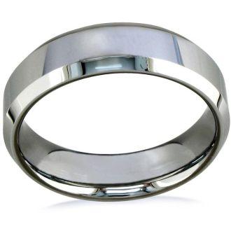 7mm Beveled Titanium Wedding Band