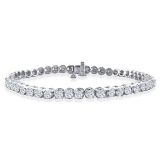 3 Carat Diamond Tennis Bracelet In 14 Karat White Gold