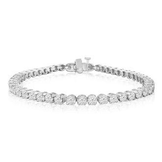 5 Carat Diamond Tennis Bracelet In 14 Karat White Gold