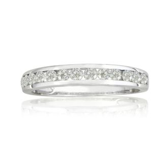 1/4ct Channel Set Diamond Band in White Gold. our Most Popular Wedding Band!