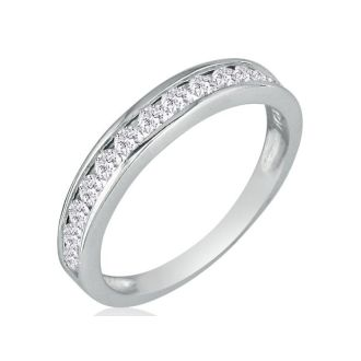 1/2ct Channel Set Diamond Anniversary Band in 14k White Gold