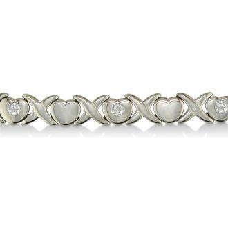 Stainless Steel Hugs and Kisses Bracelet