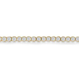 3 3/4 Carat Diamond Tennis Bracelet In 14 Karat Yellow Gold, 9 Inches