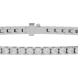 3 Carat Diamond Tennis Bracelet In White Gold, 7 Inches.  The Ultimate Classic Diamond Bracelet