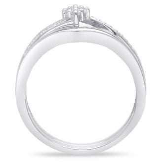 Marquise Shaped Diamond Bridal Set