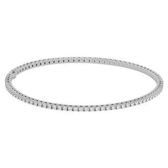 6.5 Inch 10K White Gold 1 7/8 Carat Diamond Tennis Bracelet