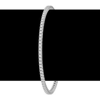 4 Carat Diamond Tennis Bracelet In 10 Karat White Gold, 9 Inches